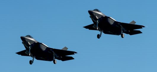 6th and 7th F-35A approaching at Cameri AFB (F.A.C.O.)